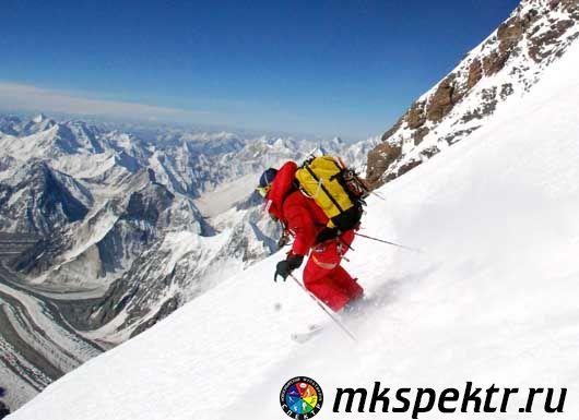 Лыжный спуск с К-2
